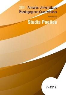 Annales Universitatis Paedagogicae Cracoviensis. Studia Poetica
