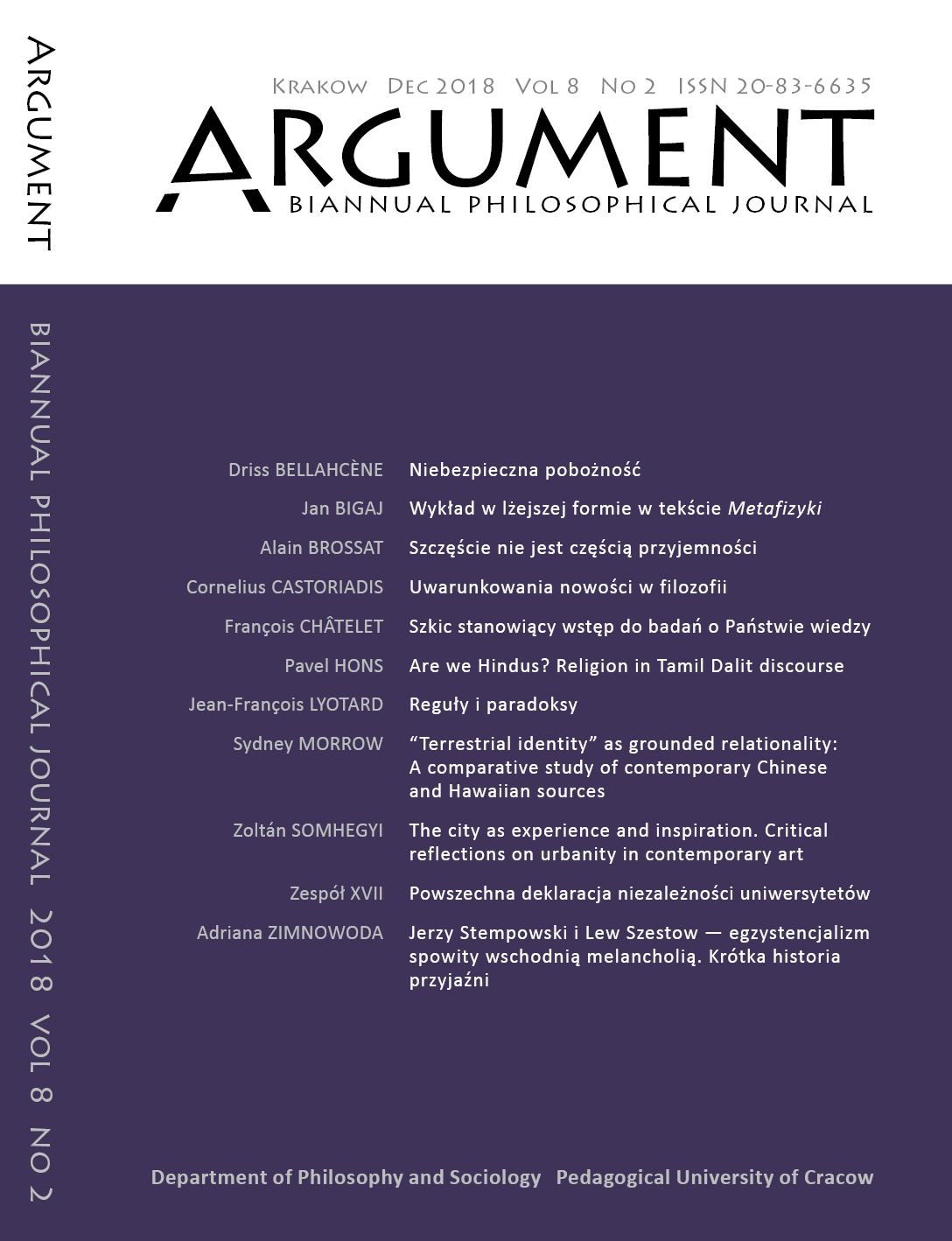 Argument: Biannual Philosophical Journal